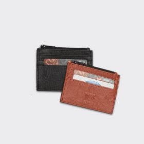 bespoke premium vegan leather zipped card holders wholesale - Direct from manufacturer