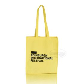 logo printed bags yellow