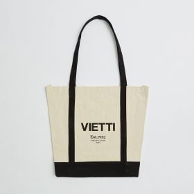 Bespoke large canvas shopper bag with colored handles direct from ethical manufacturer