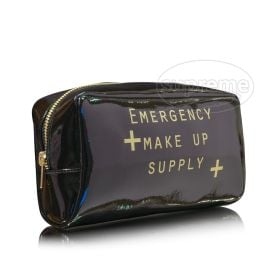 black glamour makeup pouches