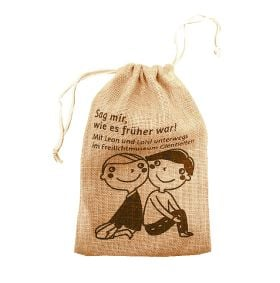 tiny luxurious jute bags