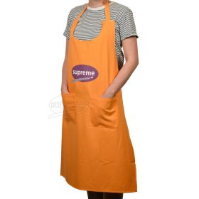 Large Canvas Bib Apron With Pockets and scoop neck