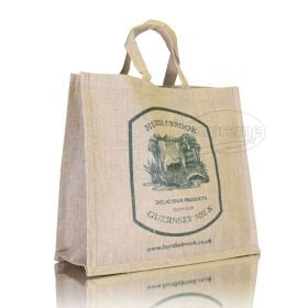jute shopping bags with gusset