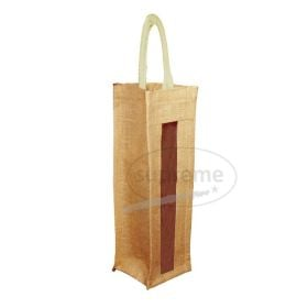 One Bottle Jute Window Bag 10(w)x34(h)+10cm