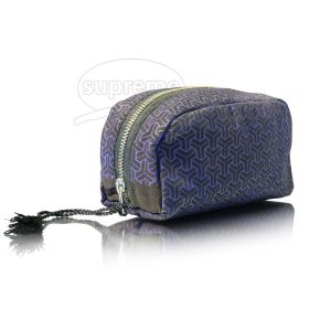 mettalic zip round day cosmetic bags
