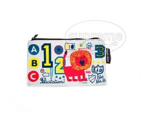 small rectangle zip up pencil pouch