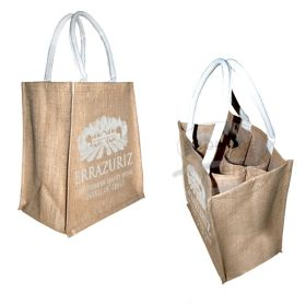 six bottle jute hessian bags