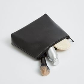 vegan leather travel pouch bag with zipper for wholesale from Supreme Creations