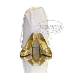 sateen drawstring shoe bags