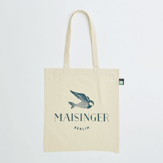 5oz natural cotton tote bag with label