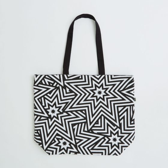 large shooper bag in 11oz dyed white cotton