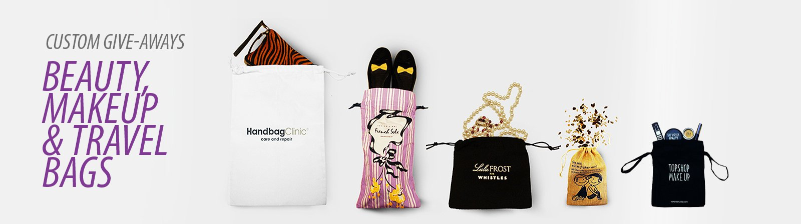 Luxury makeup bags and pouches