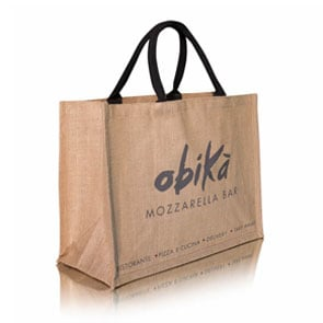 Jute market shopper with rope handles