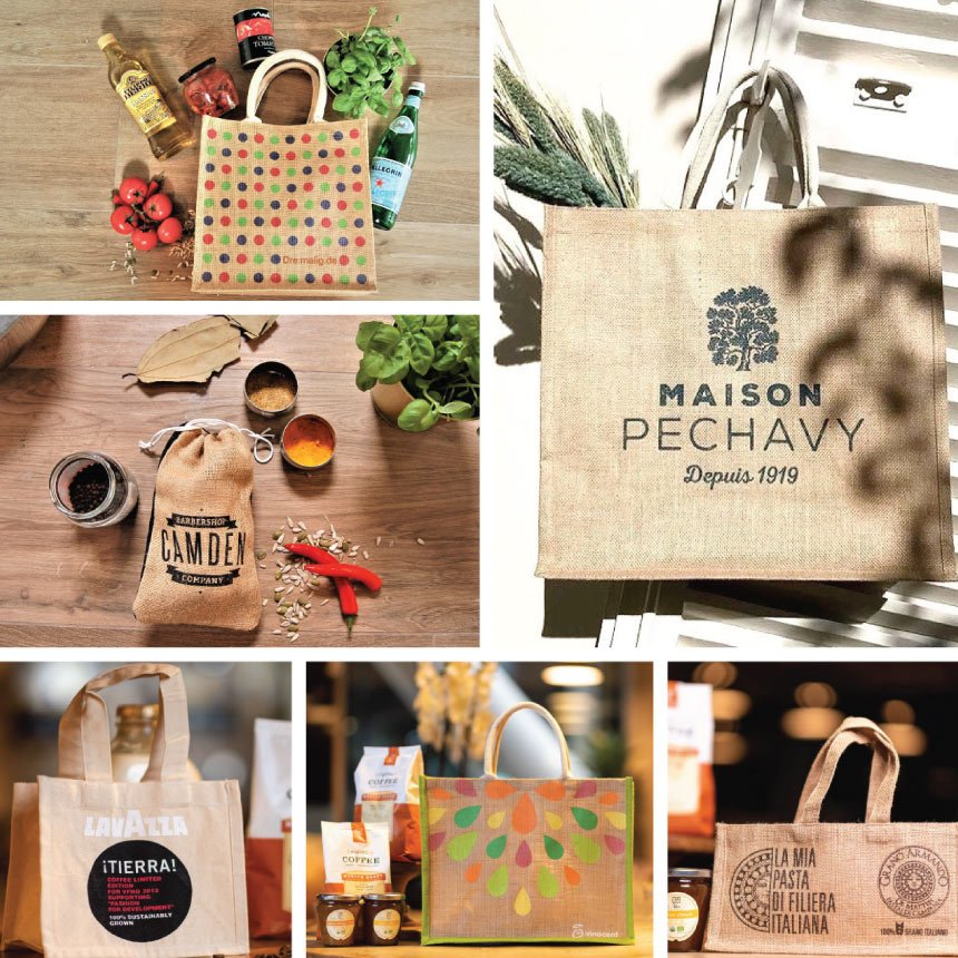 Any Shape, Any Size, Hessian bags