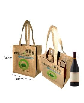 printed bottle gift bags